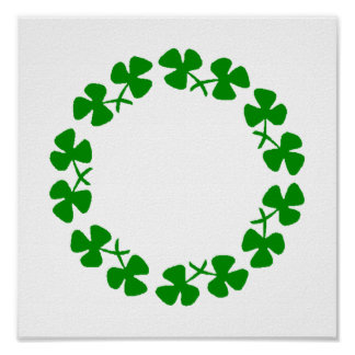 St. Patrick's Day Shamrock Ring Poster
