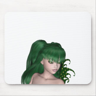 St Patrick s Day Sprite 1 - Green Fairy Mouse Pads