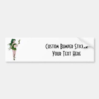 St Patrick s Day Sprite 3 - Green Fairy Bumper Sticker