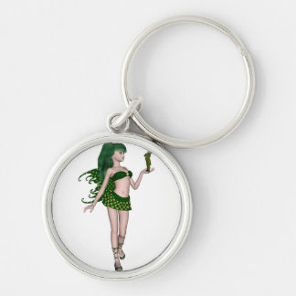 St Patrick s Day Sprite 3 - Green Fairy Key Chain