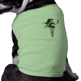 St Patrick s Day Sprite 3 - Green Fairy Pet Tshirt