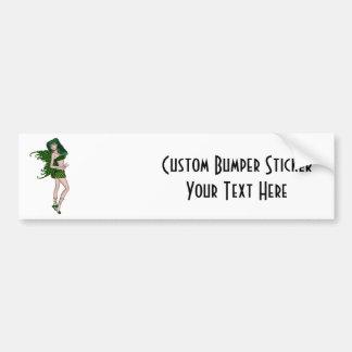 St Patrick s Day Sprite 8 - Green Fairy Bumper Sticker