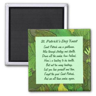 St. Patrick's Day Toast. Irish folklore Square Magnet