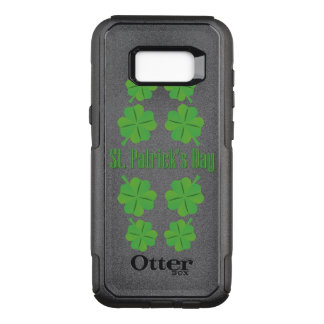 St. Patrick's Day with clover OtterBox Commuter Samsung Galaxy S8+ Case