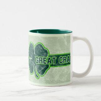 St. Patrick's 'Great Craic' Shamrock Grunge Mug