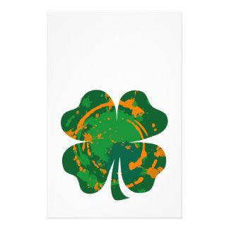 St Patrick s Ink Clover Flyer Design