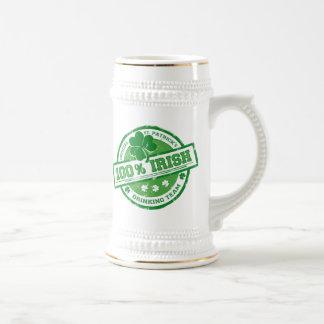 St Patrick s Irish Drinking Team funny stein Mug