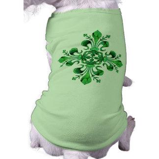 St Patrick s Lucky Fleur de lis Pet T-shirt