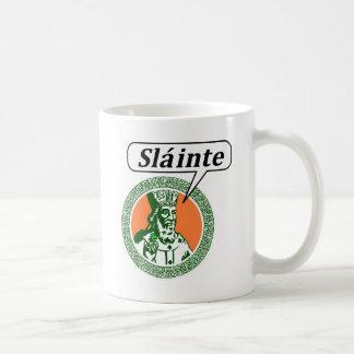 """St. Patrick says """"Sláinte"""" Coffee Mugs"""