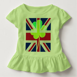 St.Patrick Shamrock Clover UK Flag Ireland Toddler T-Shirt