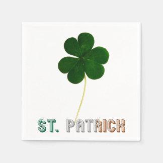 St. Patrick Shamrock Irish Ireland Typography Disposable Napkin
