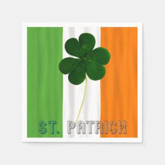 St. Patrick Shamrock Irish Ireland Typography Paper Napkins
