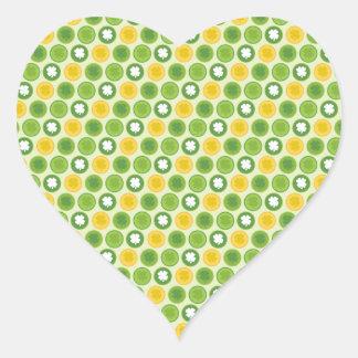 St. Patrick Shamrocks Heart Sticker