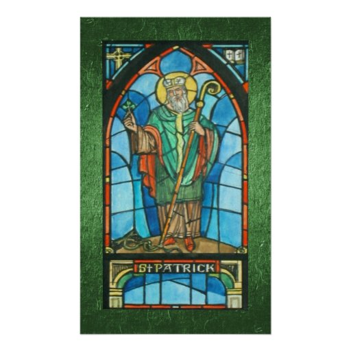 St. Patrick Stained Glass Print