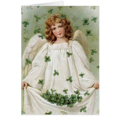 St. Patricks Angel bringing you good luck Greeting Card