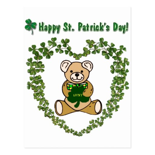 St. Patrick's Bear Postcard