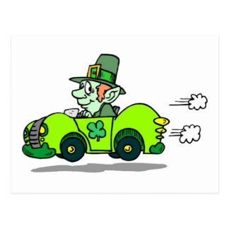 St Patricks Car Racer Post Card