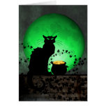 St. Patrick's Chat Noir Greeting Card