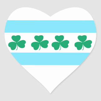 St Patrick's Chicago Dye the River Green Heart Sticker