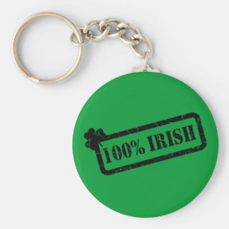 St. Patrick's Day 100% Irish Basic Keychain