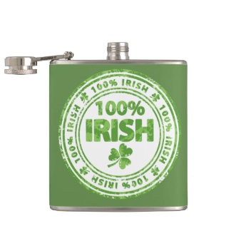 St. Patrick's Day 100% Irish Flask