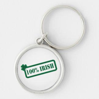 St. Patrick's Day 100% Irish Premium  Keychain