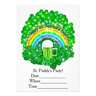 St. Patricks Day 13 Cm X 18 Cm Invitation Card