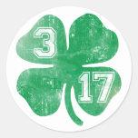 St. Patricks Day 3/17 Irish Shamrock Round Sticker