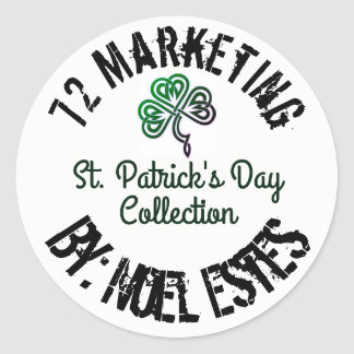 St. PATRICK'S DAY 72 MARKETING COLLECTION Classic Round Sticker