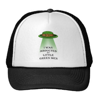 st. patrick's day, abducted by little green men hat