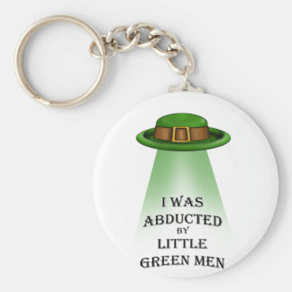st. patrick's day, abducted by little green men key chains