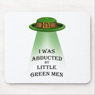st. patrick's day, abducted by little green men mouse pads