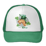 St. Patrick's Day Airedale Trucker Hat