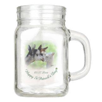 St Patrick's Day Alpaca Mason Jar Mug