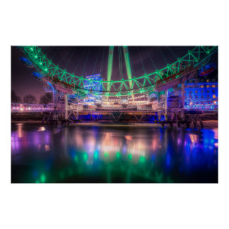 St. Patrick's Day at the London Eye Poster