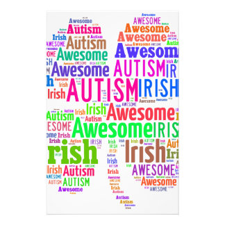 St. Patrick's Day Autism Awareness Products Custom Stationery
