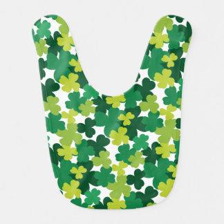 St. Patrick's Day Baby Shamrock Pattern Bib