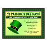 St Patrick's Day Bash Hat Invitation