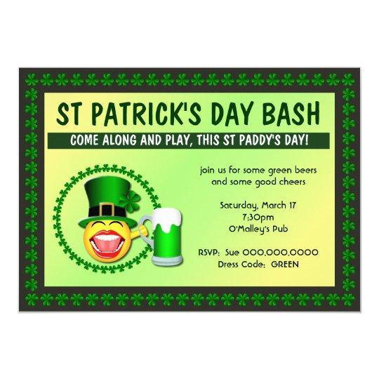 St Patrick's Day Bash Invitation