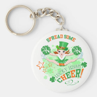 St Patrick's Day Basic Round Button Key Ring
