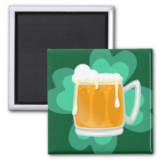 St Patricks Day beer and shamrock Magnet