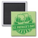 St. Patrick's Day Beer logo Refrigerator Magnet