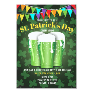 St. Patrick's Day Beer Party Invitations