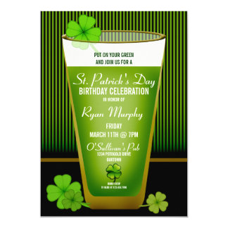 St. Patricks Day Birthday Party Invitations