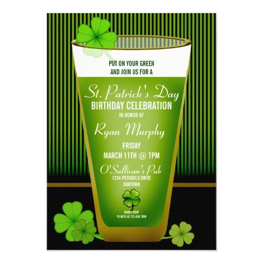 St. Patricks Day Birthday Party Invitations