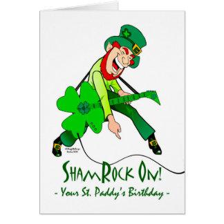 St. Patrick's Day Birthday, Rock Star, ShamRock On Card