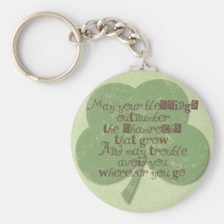 St. Patricks Day Blessing Key Ring