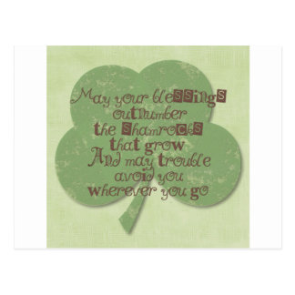 St. Patricks Day Blessing Postcard