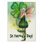 St Patrick's Day Blonde Fairy card