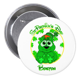 St Patrick's Day Boston feat Lil Clover 7.5 Cm Round Badge